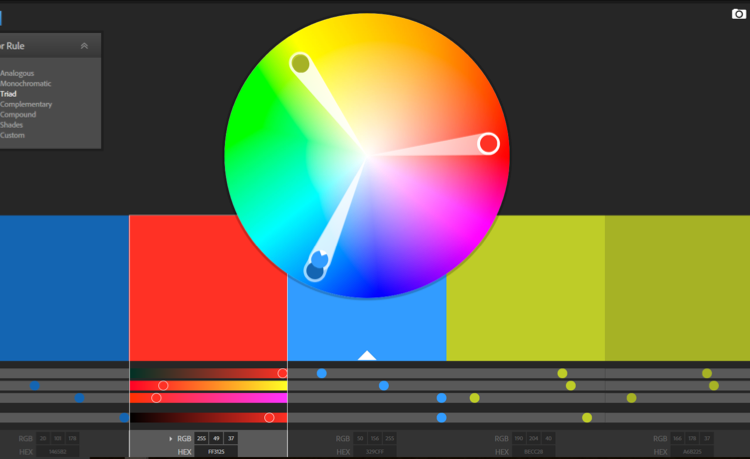 adobe, colour, colour wheel, triad, colour psychology, colour theory, communication for development, C4D