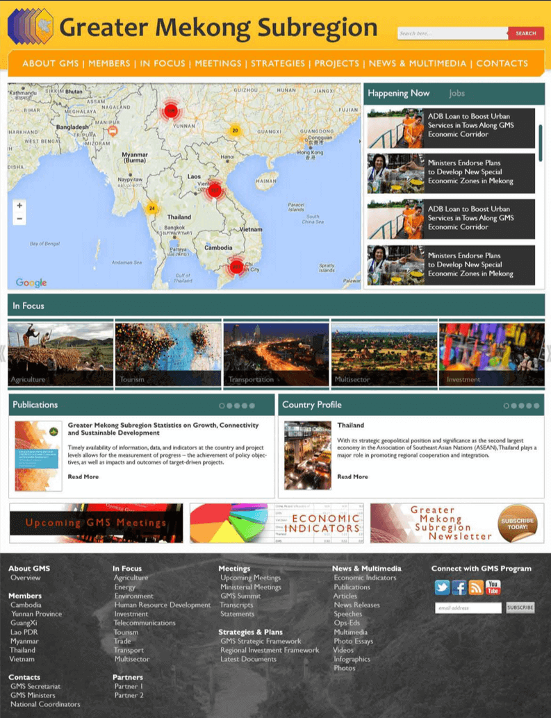 Asian Development Bank Greater Mekong Website