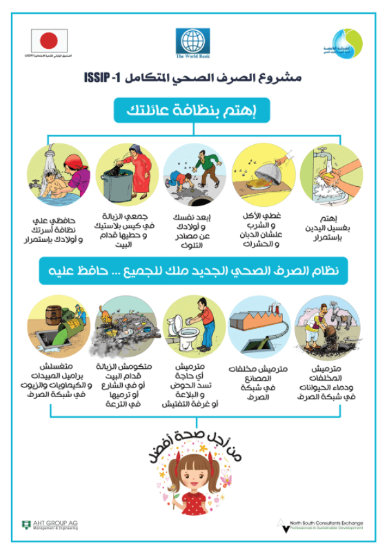 Illustrations for a public health campaign in Egypt
