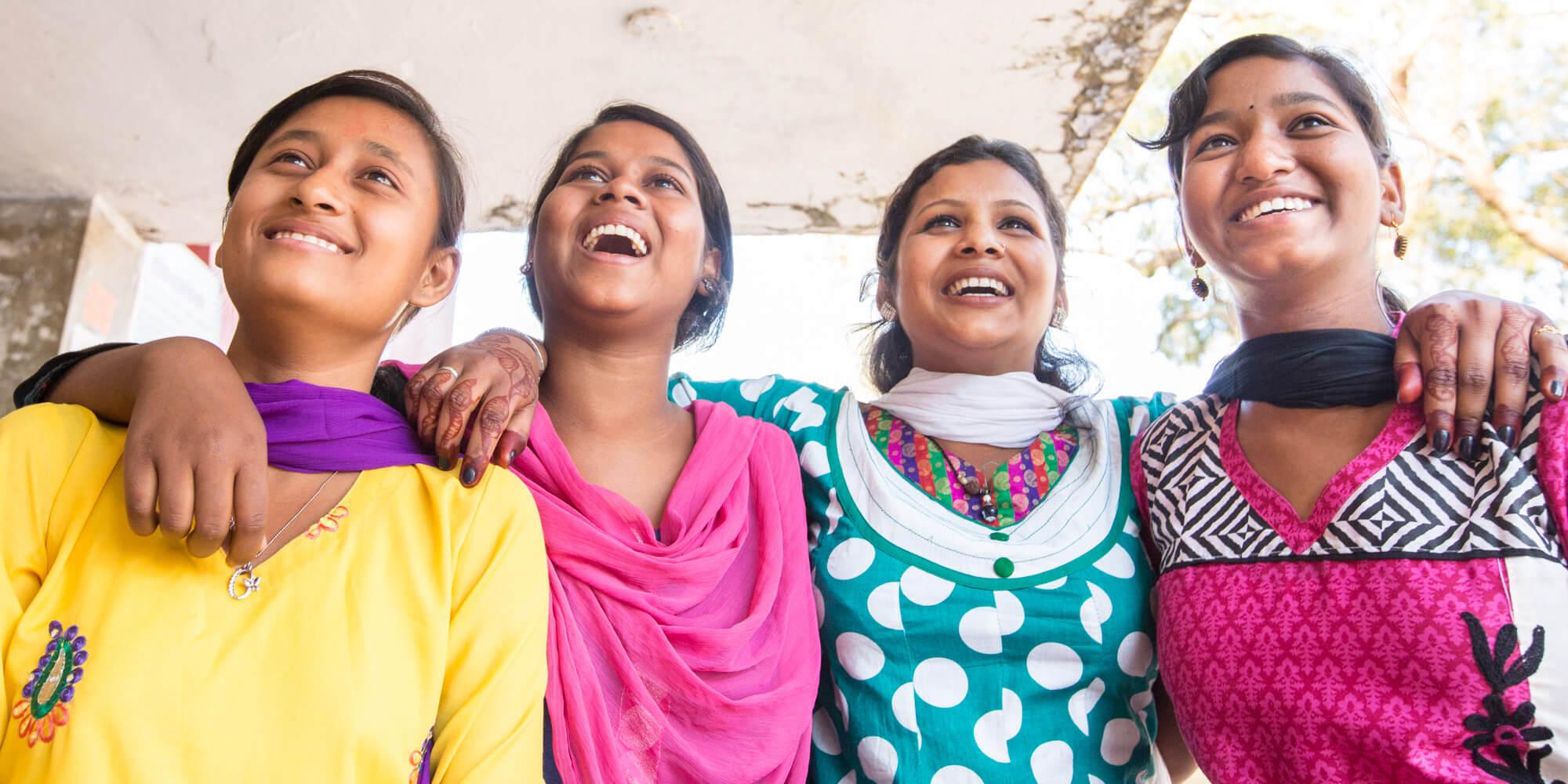EngenderHealth, girls, friends, Jharkhand, India, ARSH