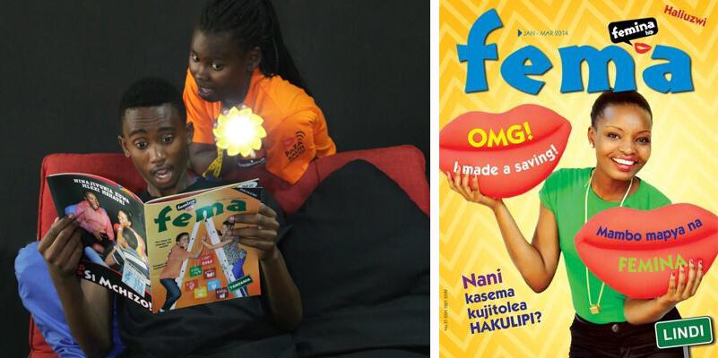 Fema magazine, Femina Hip, youth, cover, communication for development, C4D