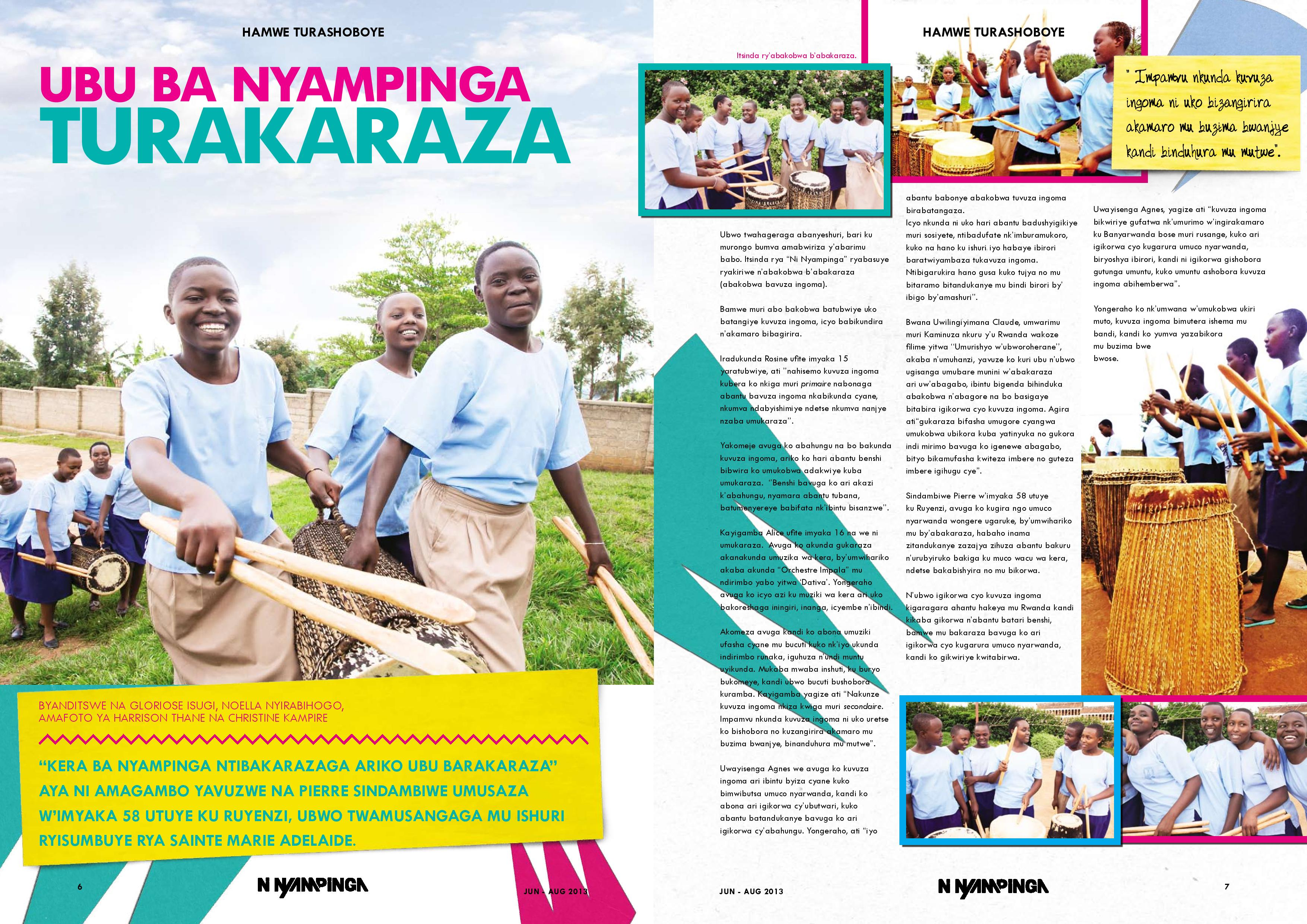 Girl Effect's Ni Nyampinga magazine in Rwanda