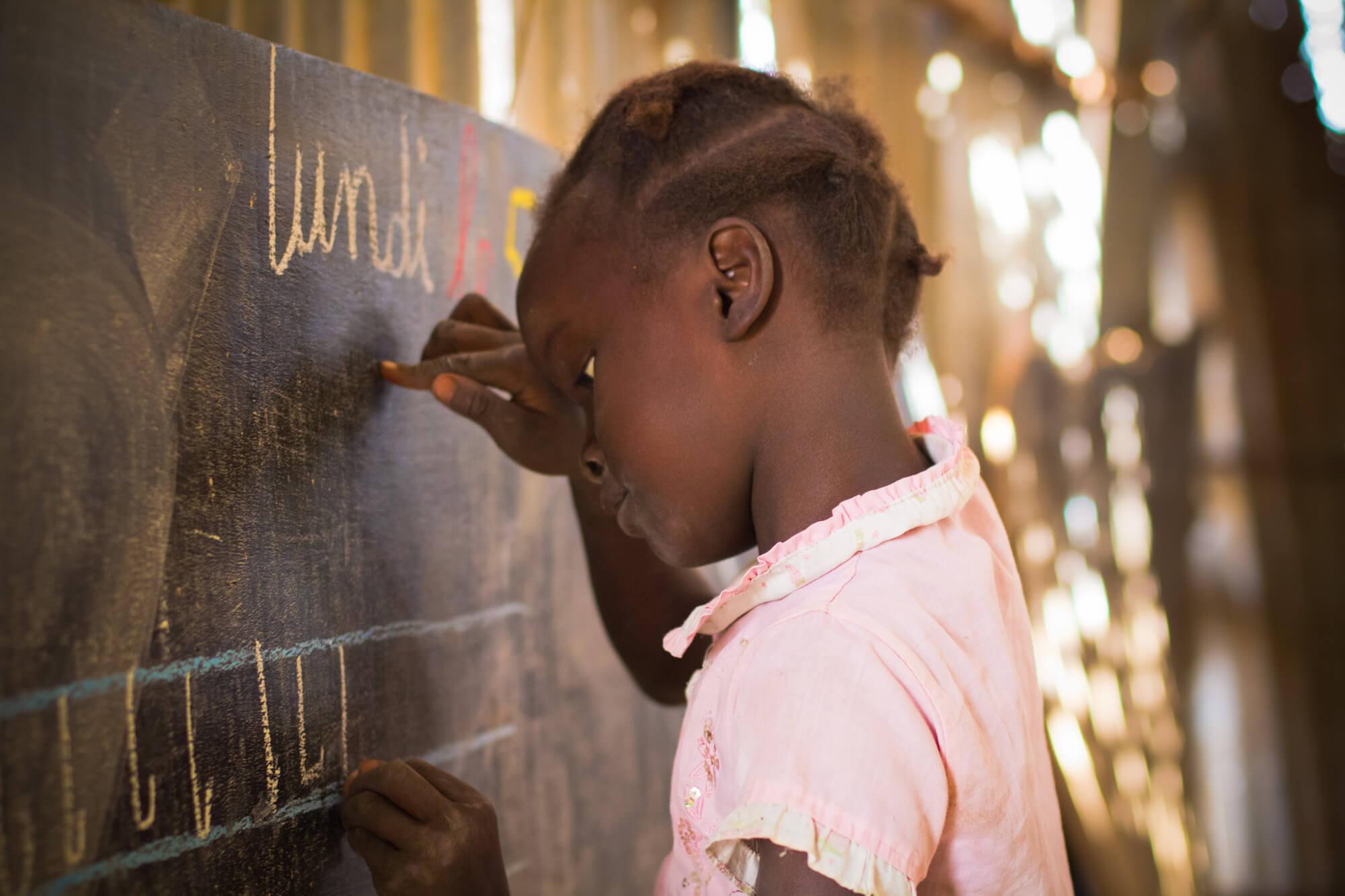 Robin Wyatt, education, literacy, writing, Peace Corps, girl, child, Kolda, Senegal