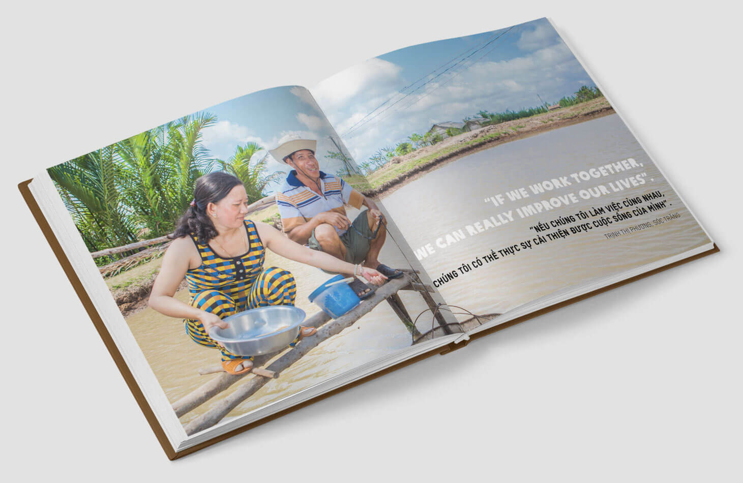 Oxfam, photo book, photography, South East Asia, Vietnam, visual storytelling, shrimp farming, teamwork