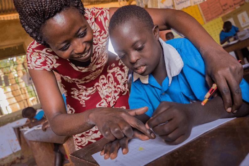 Robin Wyatt, education, literacy, writing, SignHealth Uganda, disability, hearing impaired, tactile