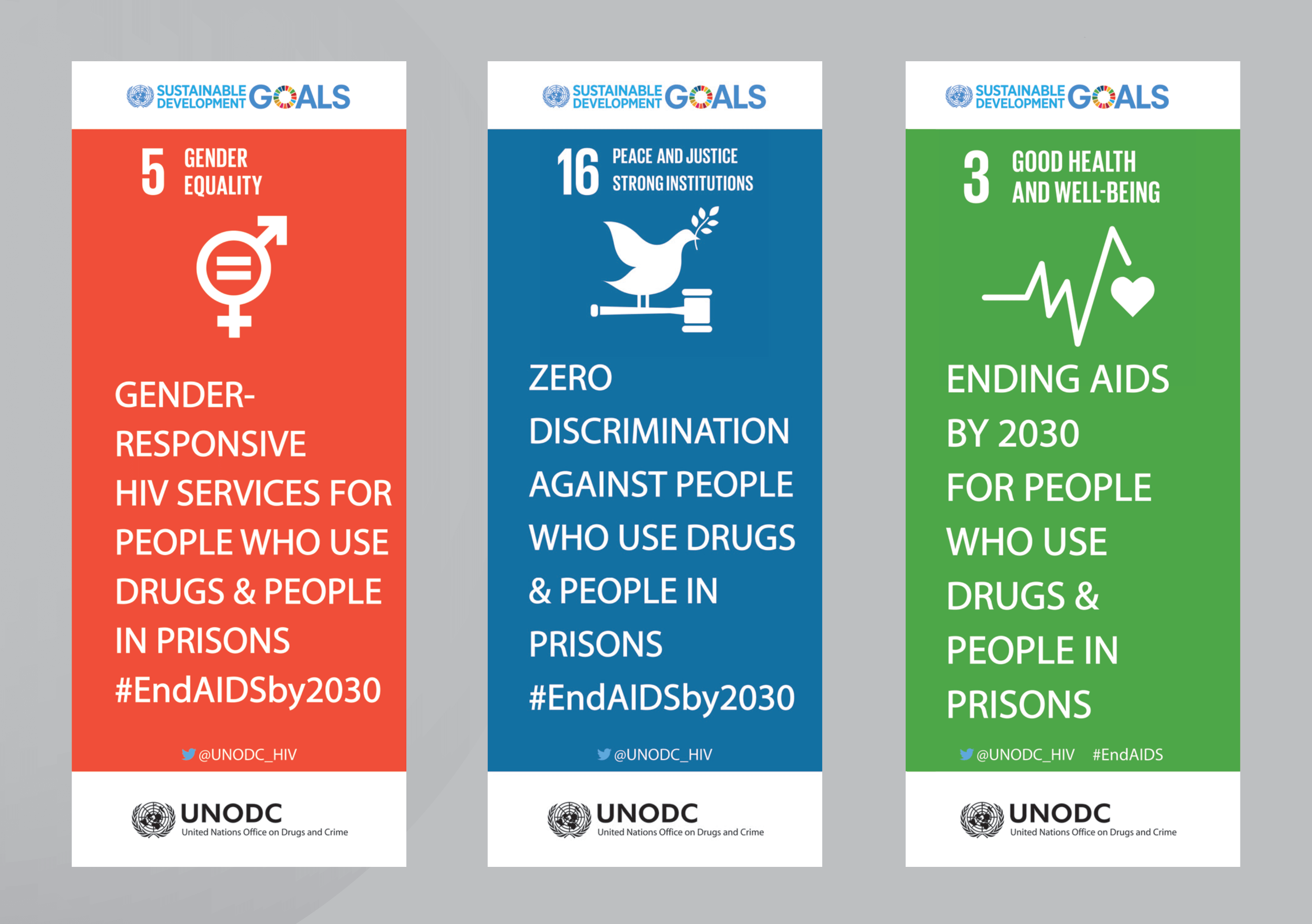 UNODC roller banner designs